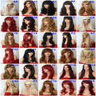 black brown blonde highlight long short ladies wig wavy straight curly cheap wig
