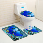 3-Piece Bathroom Rug Set Bath Mat Contour Toilet Lid Cover 3PCS Set
