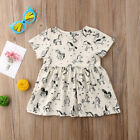 UKStock Newborn Infant Baby Girls Cotton Pony Dress Beige Dresees Casual Clothes