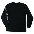 INDEPENDENT METALLIC BAR/CROSS MEN'S LONG SLEEVE T-SHIRT BLACK/SILVER