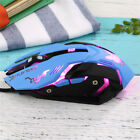 Fashion Overwatch D.VA Gaming Mouse Ergonomic 3D Flash Lights Laptop Computer