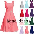 Sweetheart Short Bridesmaid Dress Chiffon Cocktail Prom Party Homecoming Gowns
