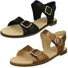 Ladies Clarks Bay Primrose Leather Buckle Strap Sandals D Fitting