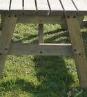 Picnic Table and Bench Set Wooden Garden Furniture, Victoria Rounded Compact