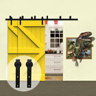 8FT-20FT Country Bypass Wood Sliding Barn Door Hardware Closet Track Kit