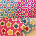 Per F/Q 1/2 Metre Funky Flower Power Polycotton Fabric Bunting Dressmaking Sew