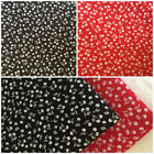 Per F/Q 1/2 Metre Red Black Cherry Fruit Polycotton Fabric Bunting Dressmaking