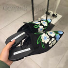 ZARA NEW S/S 2018. BLACK FLORAL EMBROIDERED POINTED MULES SHOES. REF 3542/301.