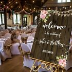 Personalised Welcome Wedding Sign-SUMMER FLORAL WOOD -4 SIZES AVAILABLE