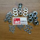 NUTS AND WASHERS BZP TO SUIT BOLTS & SCREWS M4 M5 M6 M8 M10 M12 M16 M20 M24 F&F
