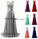 New Lace/Chiffon Bridesmaid Dress Formal Prom Party Ball Gown Dresses Size 6-20+