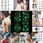 Xmas luminous tattoo sticker Chest 3D Sexy Waterproof Cover scar Disposable-hot $1.17 USD on eBay