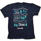 """Jar Lights"" Kerusso Cherished Girl Adult Short Sleeve Navy T-Shirt"