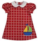 Girls MONDAY'S CHILD boutique dress 12M 18M 2T 3T NWT sailboat applique nautical