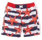 Boys red white blue nautical swimsuit 6 9 12 18 months NWT July 4 swim trunks