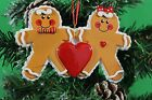 Personalised Family of 2,3,4,5 Christmas Tree Ornament -Gingerbread family Decor