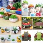 8pc/set small ceramic resin succulent plant pot flower planter garden shop decor