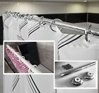 Straight Shower Curtain Rail/Rod in White or Chrome, Wall Fixed, Different Sizes