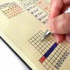 """Journal - Handy 5"""" x 8"""" Dotted Hardcover Notebook Planner - 120 Sheets w/ Pocket"""