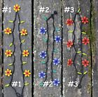 Sweet Huichol Flower Necklace 3 Different Colors Mexican Beaded Mexican Folk Art
