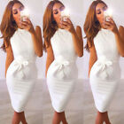 US STOCK Womens Summer Lace Short Sleeve Party Evening Cocktail Short Mini Dress