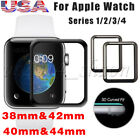3D Full Covered Tempered Glass Screen Protector For iWatch Apple Watch 38mm 42mm