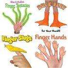 Finger Puppets Hands Glow in the Dark Tentacles Duck Feet Banana Slugs Vinyl NEW