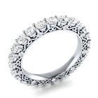 Round Cut White Sapphire Women 925 Silver Jewelry Elegant Wedding Ring Size 6-10 image