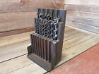 Vintage Drill Bit Set Wooden Box Dated May 30,1893 With 13 Bits Assorted-IRWIN