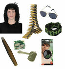 Men's Army Military RAMBO T.V Film Movie Stag Fancy Dress Costume Accessories