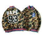 bape baseball jacket - Camo Baseball Jacket Men's A Bathing Ape Bape Coat Windbreaker Outerwear