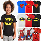 Внешний вид - Kids Boys Superman Spiderman T-Shirt Summer Casual Short Sleeve Tee Shirts Tops
