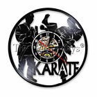Karate Vinyl Clock LED Wall Light Record Sportmen Wall Clock Time For Karateka