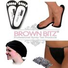 spray tan Pack 25 Hair nets 25 thongs gstring 25 pairs Foam stick on sticky feet