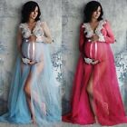 Pregnant Women Long Maxi Ball Gown Photography Prop Clothes Maternity Dress
