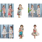 Внешний вид - Classic Fashion Retro Kids Girl Peacock Cheongsam Dress