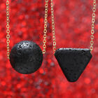 Women Man Natural Volcanic Stone Necklace Pendant Clavicle Chain Jewelry Gift