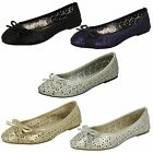 Spot On F8R0037 Ladies Ballerina Shoes UK Sizes 4 to 7(R28A) J-K