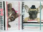 A5 Twin Wire Spiral Bound Notebook Notepad Pet Cat/Dog Design Ruled Feint Lined