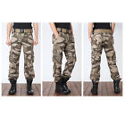 US Military Men's Cotton Cargo Pants Combat Camouflage Camo Army Style Trousers