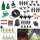 10-25M DIY Garden Auto/Manual Micro Spray/Drip Irrigation 4/7mm Hose System Kit