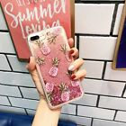 Girl's Cute Bling Dynamic Liquid Glitter Soft Case Cover for iPhone X 6S 7 Plus