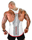 Men Workout Vest Tank Top Bodybuilding Gym Muscle Fitness Shirt Singlet US STOCK