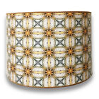 Decorative Handmade Lamp Shade - Made in USA - Yellow and Gold Flower Design