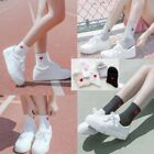 Women Men Red Heart Love Pattern Soft Breathable Ankle-High Casual Cotton Socks
