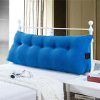 Triangular Wedge Lumbar Pillow Backrest Support Cushion Bolster Soft Headboard