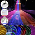 96/200 Led Net Mesh Fairy String Lights Christmas Wedding Party Decor Outdoor Us