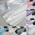 Shiny Laser Fabric Cloth Iridescent Colorful Stretch Clothes Costumes Fabrics H1