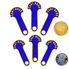 4/6x Cart Boss - Shopping Cart Coin Release Key Loonie/Quarter Royal Blue/Gold