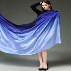 Colorful Gradient Women Silk Scarf Shawl Belly Dance Waving Scarf Veil 100*190cm